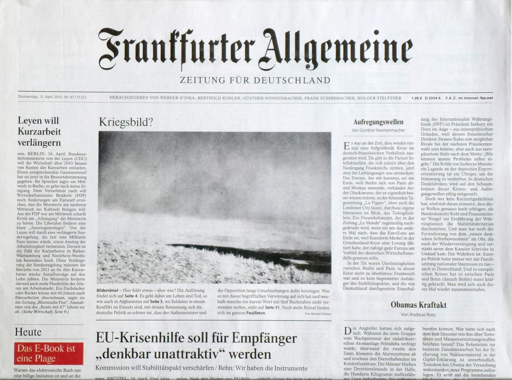 Frankfurter Allgemeine Zeitung, 15. April 2010, Nr. 87 / 15 D3