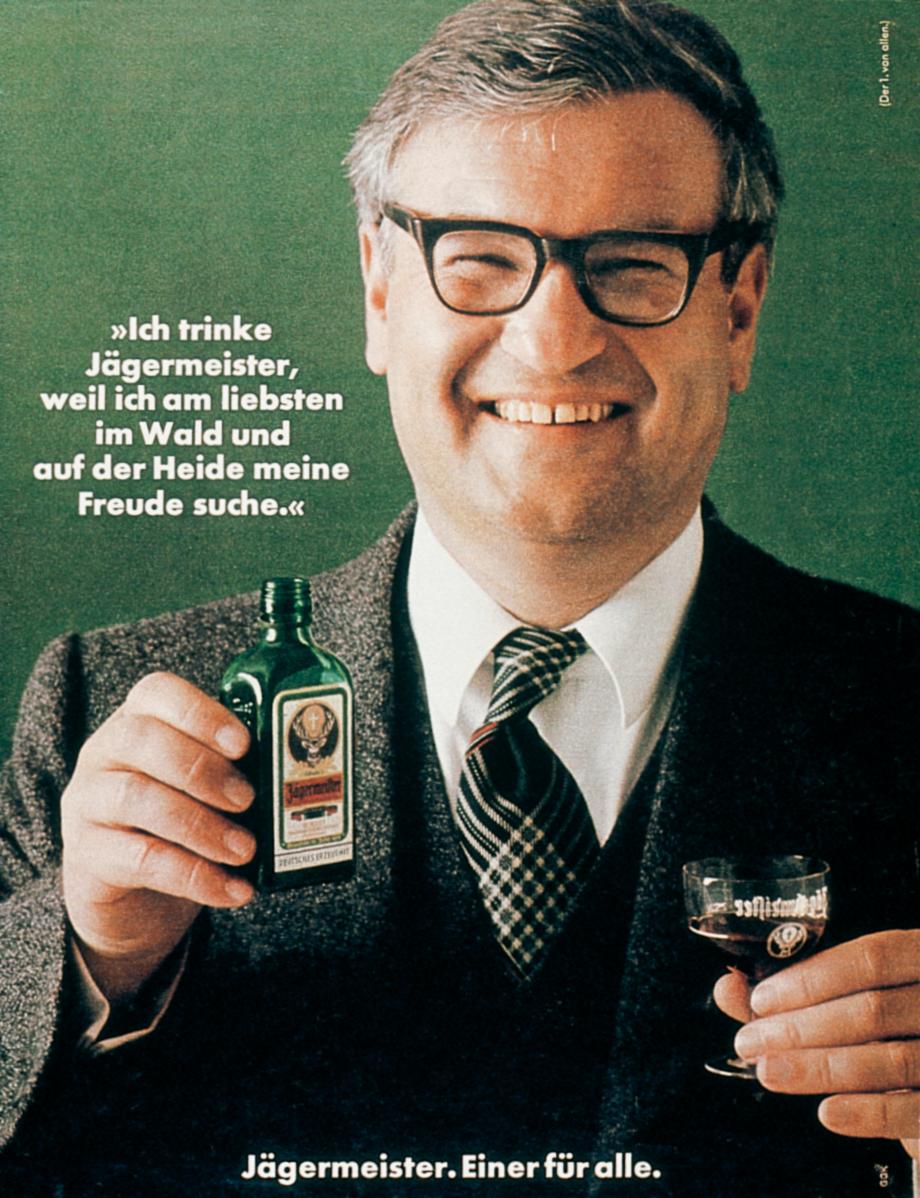 Paul Gredinger auf der 1. von 3.637 Jägermeister Anzeigen, 1973