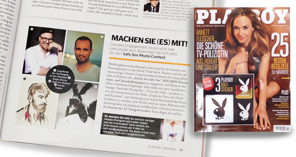 Beitrag in Playboy über die #SafySexPhotoContest